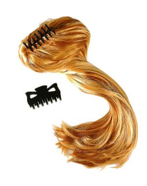 Extra lang blond haarstukje voor vrouw