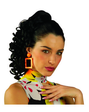 Жінка темно фігурні шматок волосся