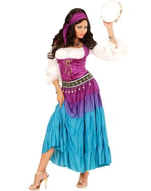 Zigeuner danseres kostuum voor vrouw grote maat