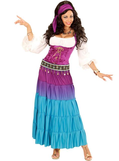 Tanzende Zigeunerin Kostüm für Damen große Größe