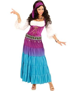 Dansende sigøyner plus size kostyme til dame