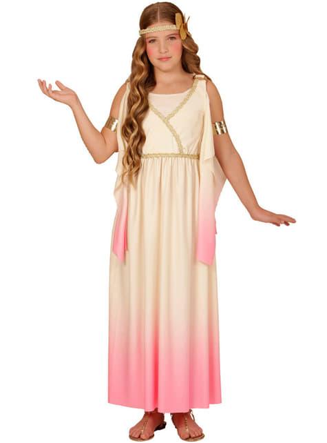 Disfraz de griega dulce para niña