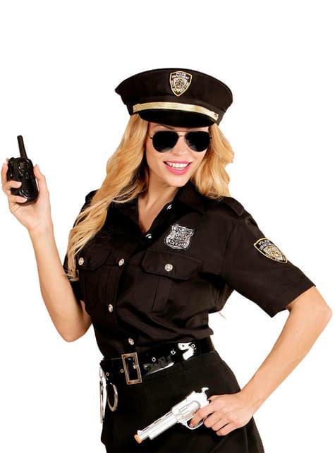 Kit de camisa y gorro de policía para mujer talla grande