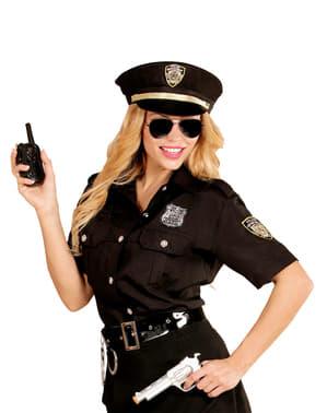 女性用プラスサイズの警察用シャツと帽子キット