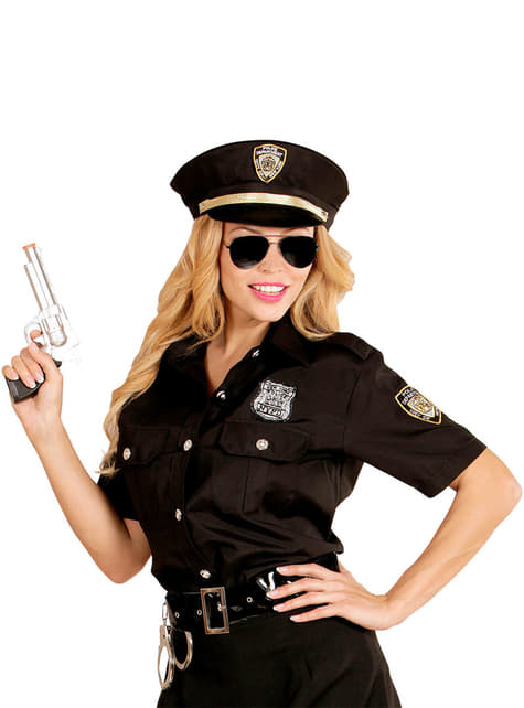 Woman's Plus Size Police Shirt and Hat Kit