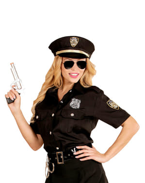 Kit de camisa e boné de polícia para mulher tamanho grande