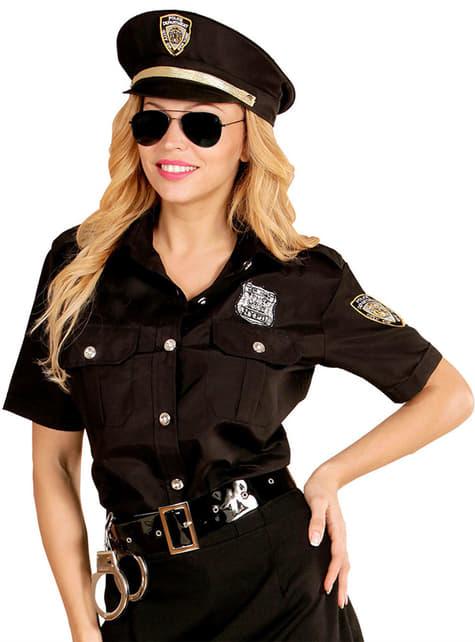 Kit de camisa y gorro de policía para mujer talla grande - original