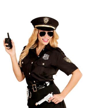 Kit de camisa e boné de polícia para mulher