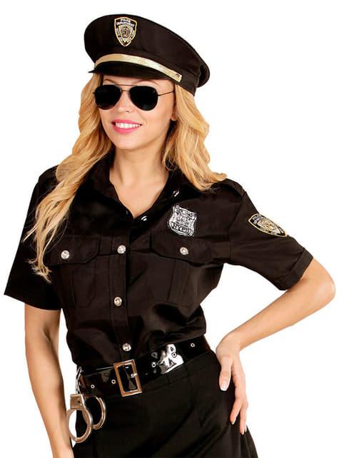 Kit de camisa y gorro de policía para mujer