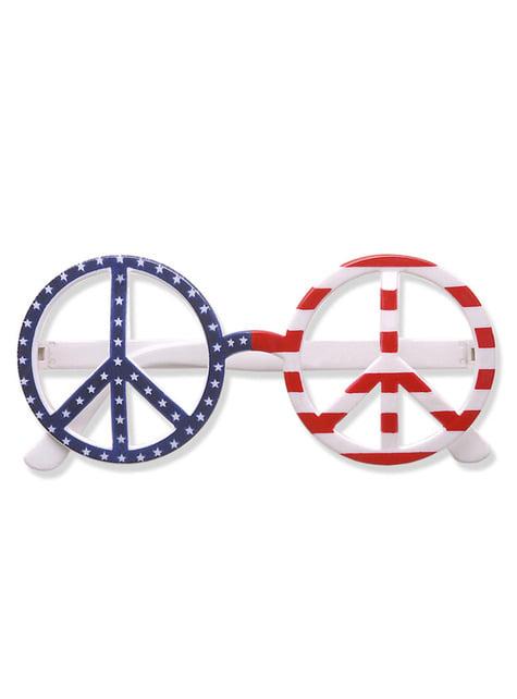 Gafas americanas paz y amor para adulto