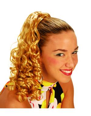 Krullend blond haarstukje voor vrouw