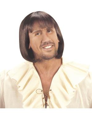 Miesten ruskea keskiaikainen peruukki