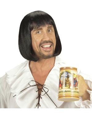 Perruque médiéval brune homme