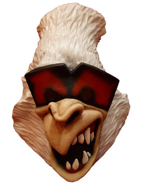 Máscara de Gorila branco divertido