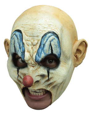 Máscara de palhaço endemoninhado careca para adulto