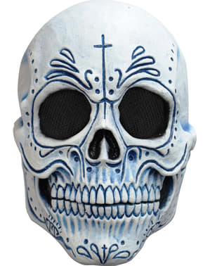 Maschera scheletro morte messicana per adulto