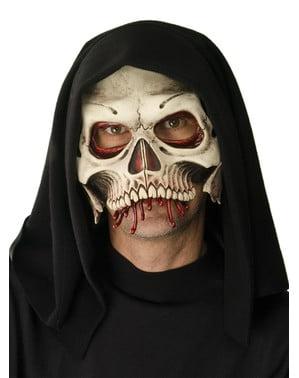 Maschera da morte scheletro per adulto