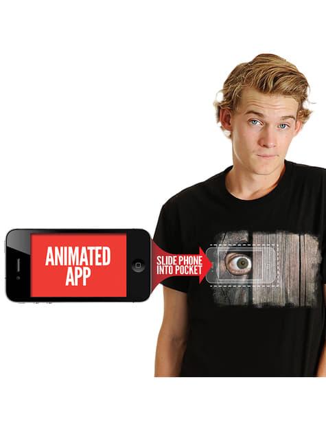 Camiseta espiando por la valla Moving Eye para hombre