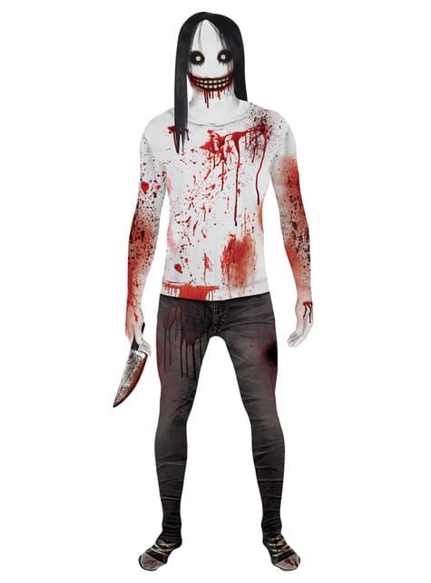 Disfraz de Jeff the Killer Morphsuit para hombre