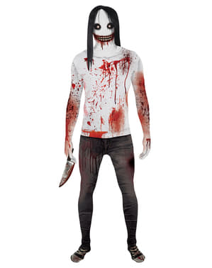 Disfraz de Jeff the Killer Morphsuit para hombre