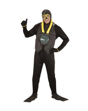 תלבושות הצוללן של האדם