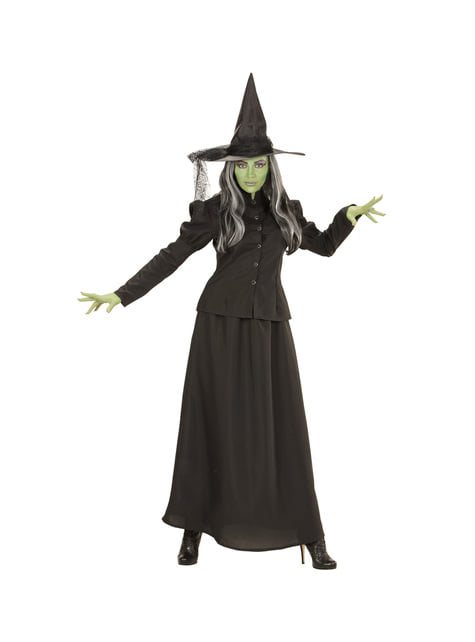 Disfraz de bruja verde malvada para mujer