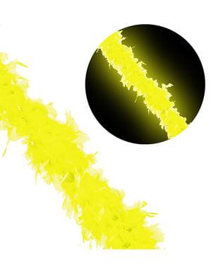 Péřové boa neonově žluté