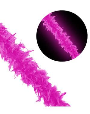Eșarfă boa roz fluorescent