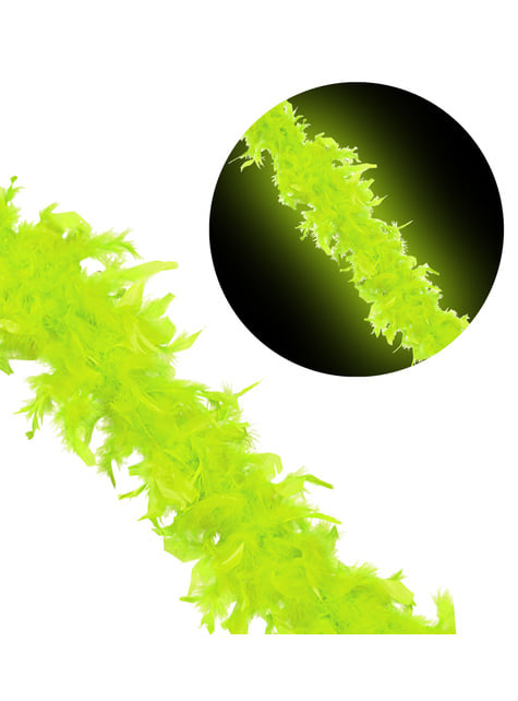Boa verde fluorescente - para tu disfraz