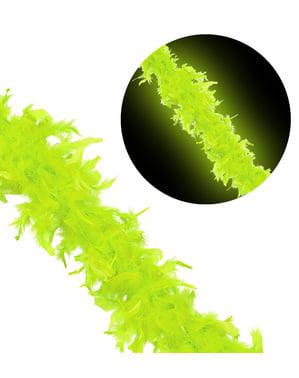 Péřové boa neonově zelené
