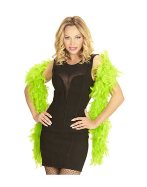 Fluorescent Green Feather Boa