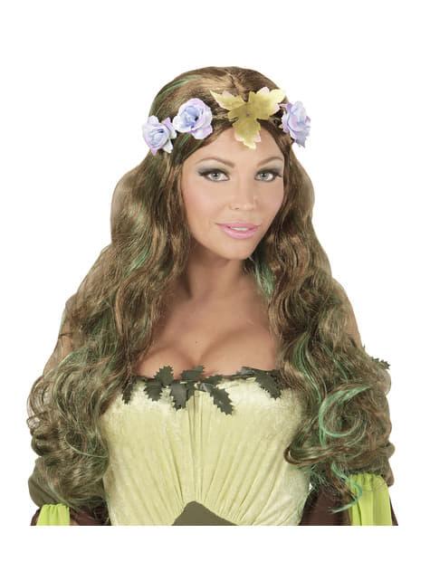 Peluca de elfa de los bosques para mujer