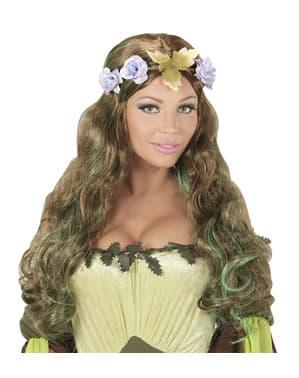 Peruca de elfo dos bosques para mulher