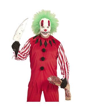 Kit costume da pagliaccio macabro per uomo
