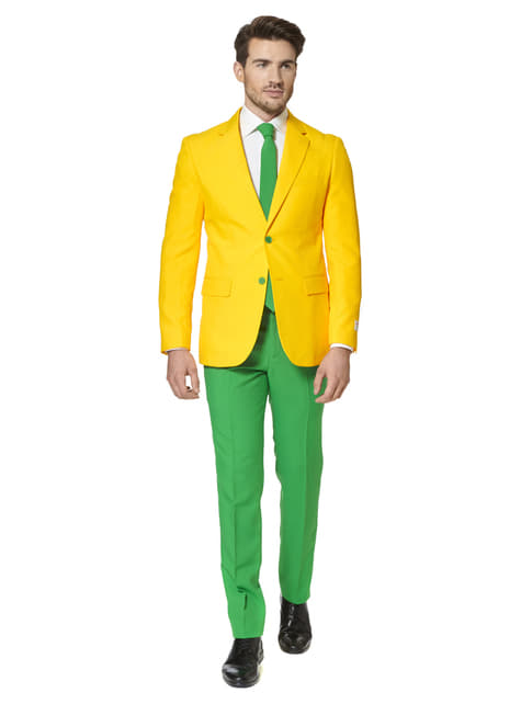 Brazil green and yellow Suit - Opposuits