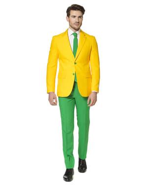 Costum barbați verde și galben Brazilia - Opposuits