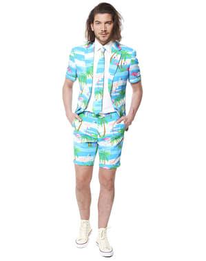 חליפת פלמינגו אלגנטית (גרסת קיץ עם שרוולים קצרים)