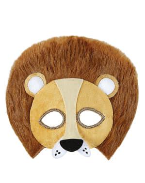 Løvemaske i plys tl voksne