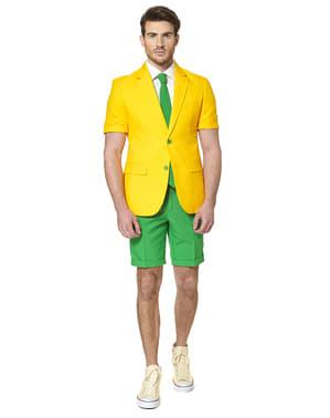 Originální oblek Opposuit zlato-zelený letní edice