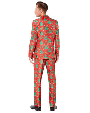 Red Suit with christmas trees - Suitmeister