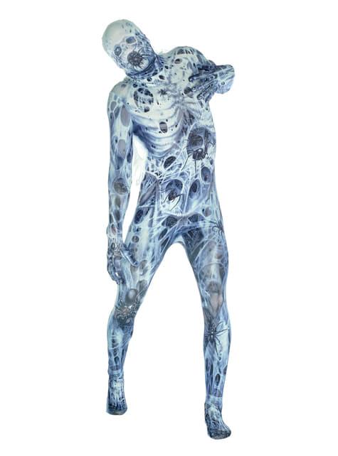 Arachnofobie Morphsuit kostuum voor volwassenen