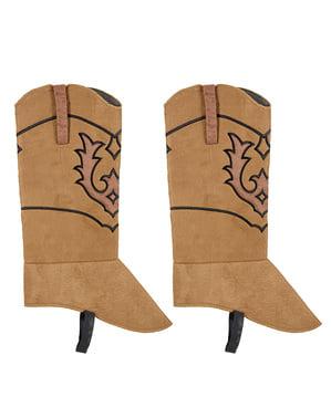 Cowboy overtræksstøvler til voksne