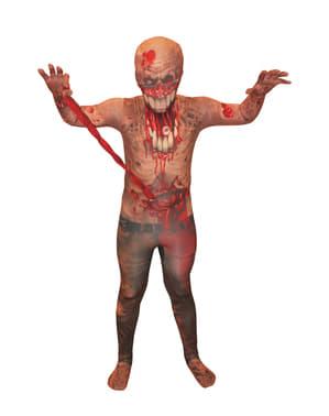 Zombie met uithangende ingewanden Morphsuit kostuum