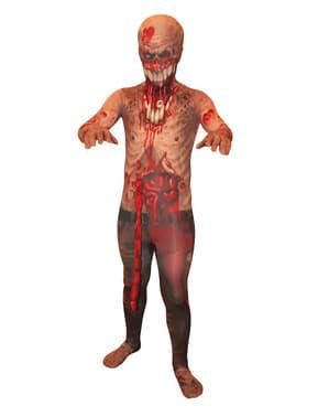 Zombie mit herausquellenden Eingeweiden Morphsuit Kostüm