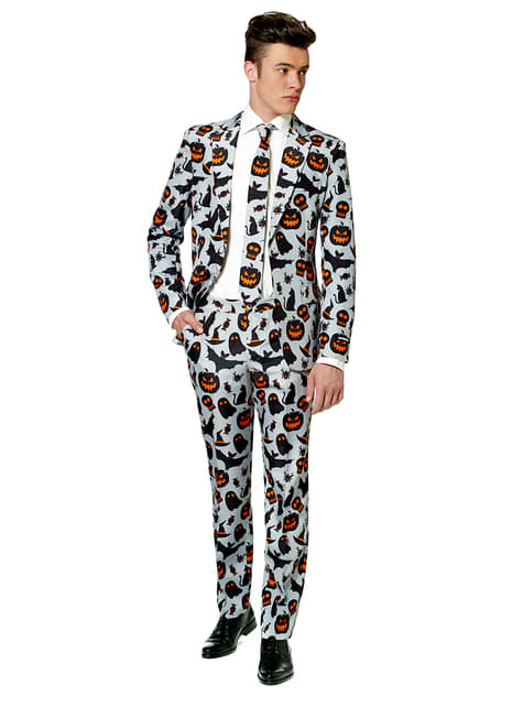 Traje Halloween Grey Icons Suitmeister