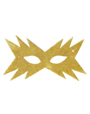 Guldfarvet stjernemaske til kvinder