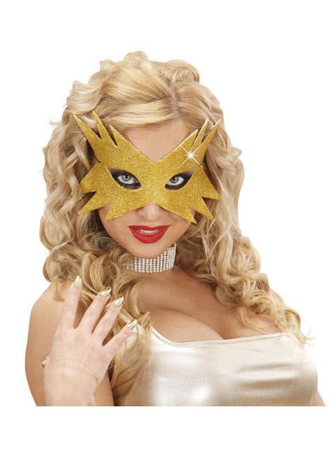 Antifaz estrela dourada para mulher