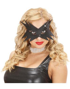 Ženska črno zvezdico masko