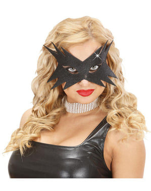 Женская черная звезда маски