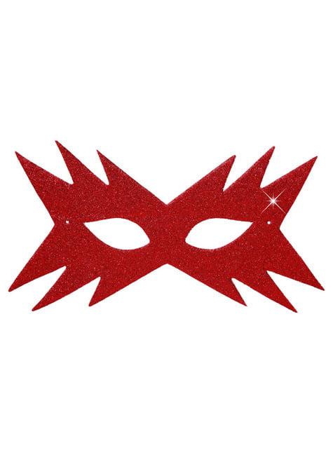 वुमन रेड स्टार मसकडेस्क मास्क